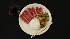 Seared Ahi Tuna w/ Stir Fry Veggies