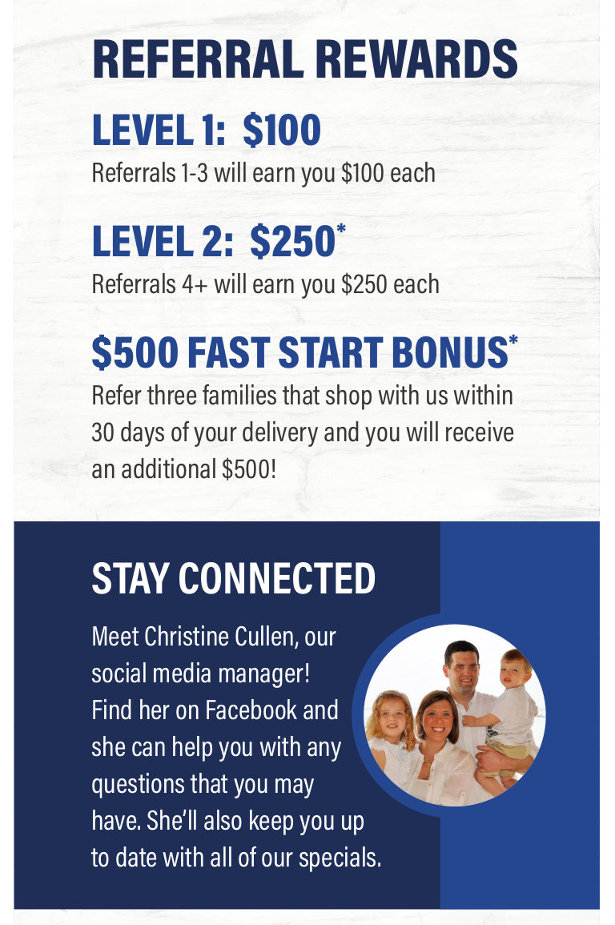 Click here to get started with our referral rewards